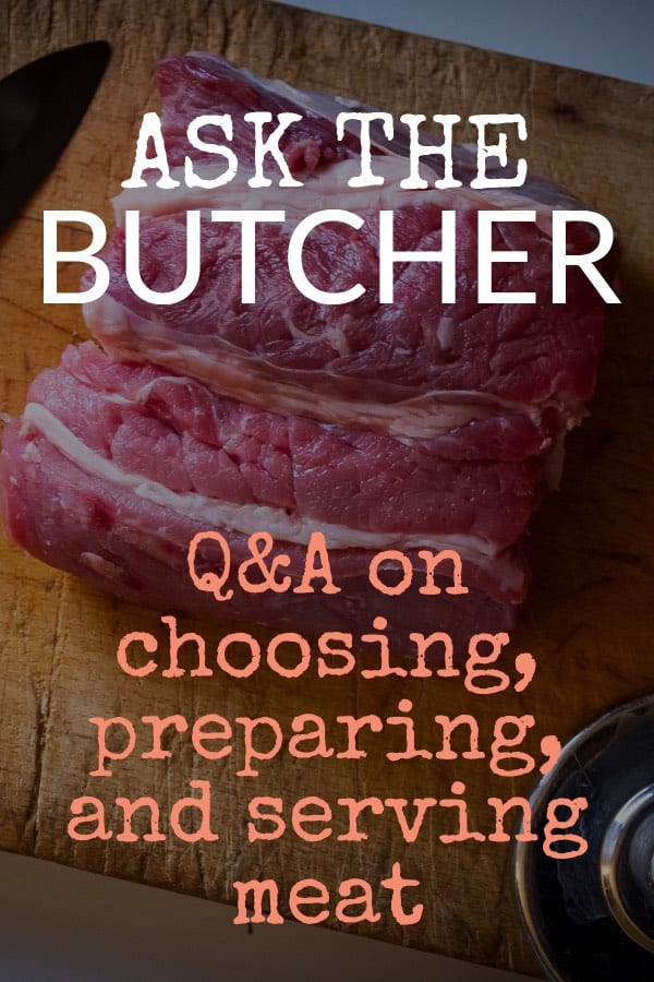 Ask the Butcher Pinterest Pin