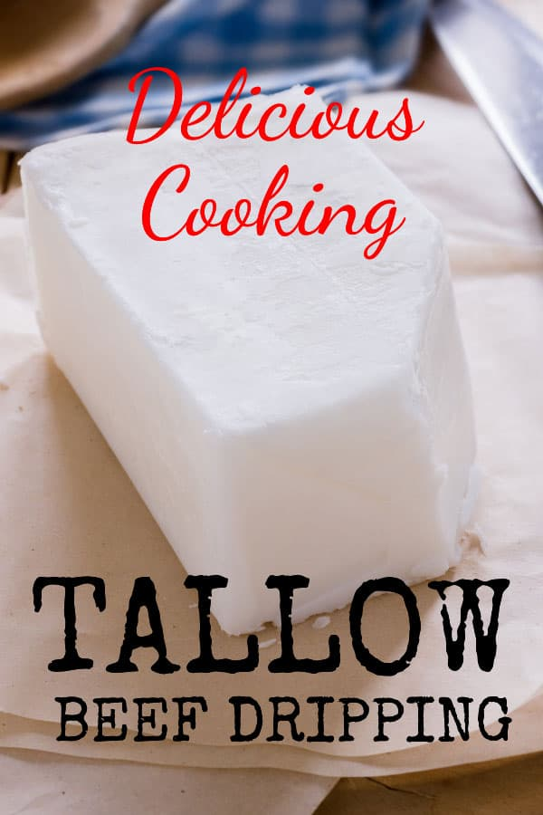 tallow or beef dripping for cooking - Delicious food enhancer