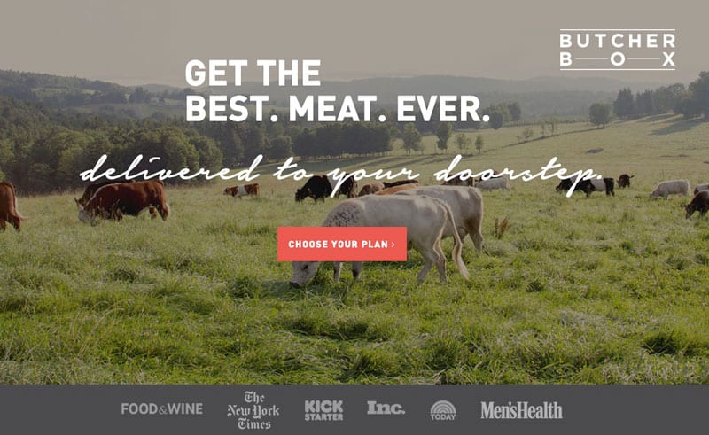 Buther Box Organic Grass-fed meat online