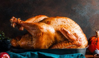 Whole roasted Christmas Turkey